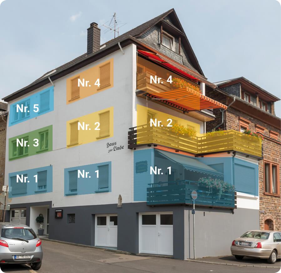 Hauslinde Wohnungsnummern
