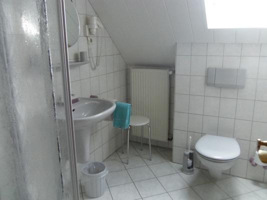 ruime badkamer met douche