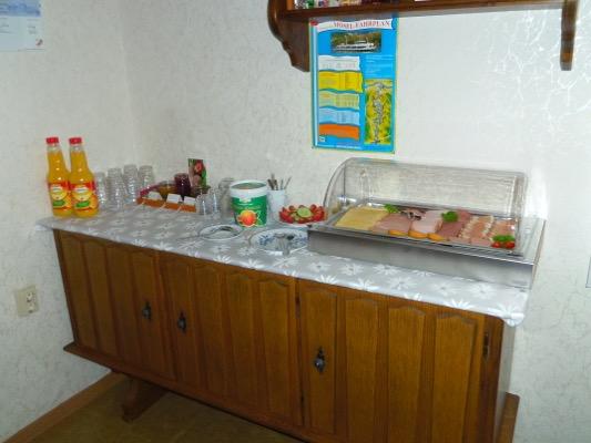Pension Arens-Hirschen ontbijtbuffet