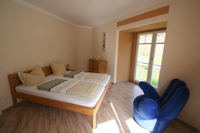slaapkamer hoofdgebouw nieuwe vakantiewoningen