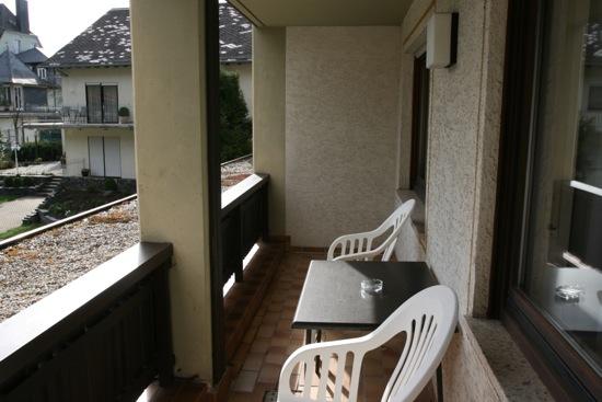 Balkon kamer Hotel Krone Riesling aan de Moezel
