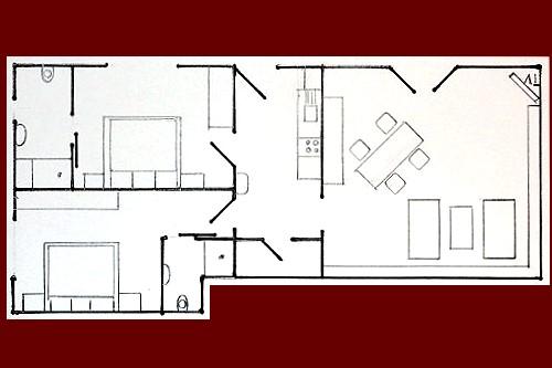 Plattegrond vakantiewoning in Zell met 2 slaapkamers