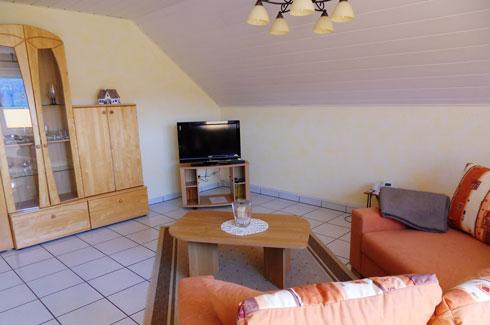 Gezellige woonkamer met internet en Moezelzicht vakantiewoning