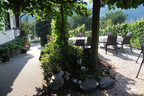 Tuin en terras Serwazi in Mesenich
