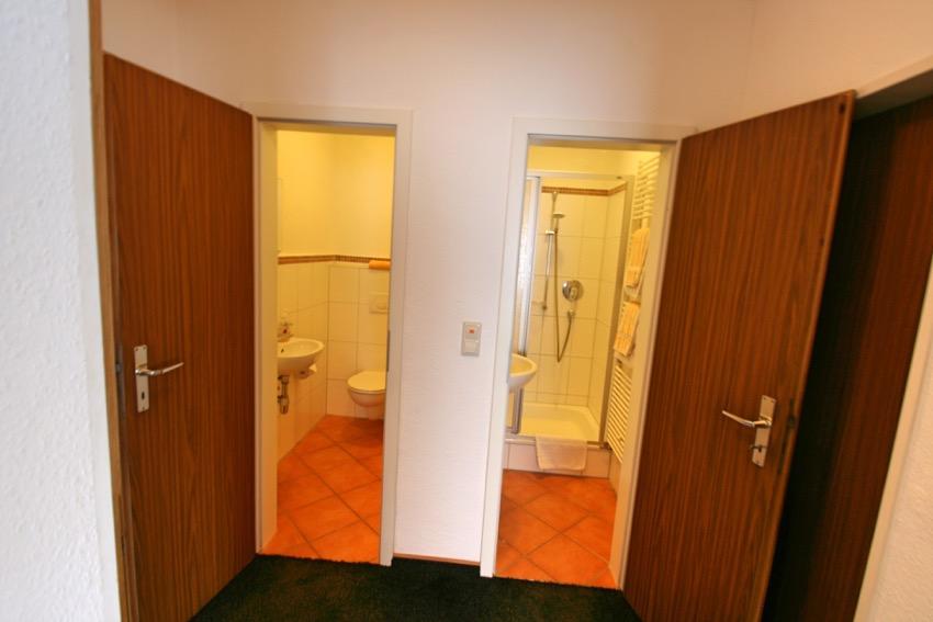vakantiewoningen met apart douche en toilet