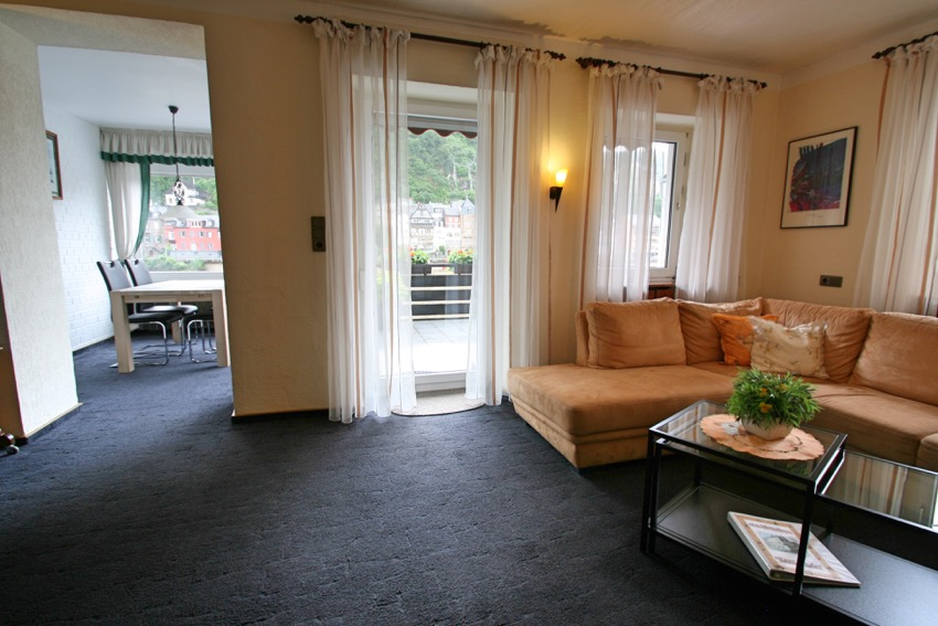 Cochem woning balkon Moezelzicht