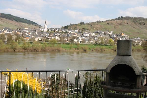 Uitzicht op Moezel met balkon en tuin vakantiewoning