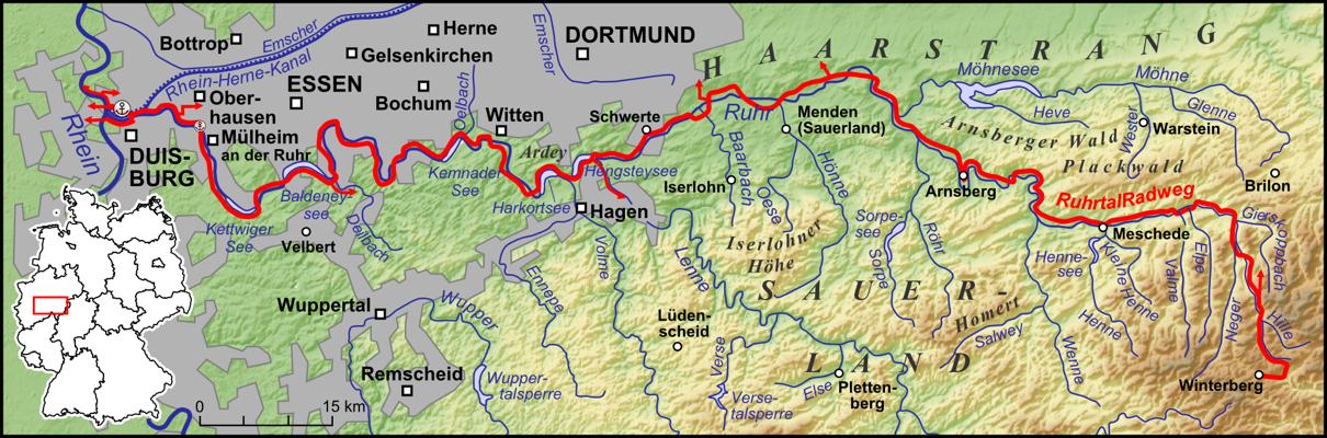 Route Ruhrtalfietspad