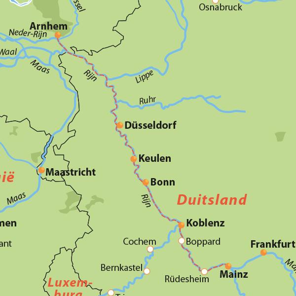 Riviercruise over de Rijn naar Mainz